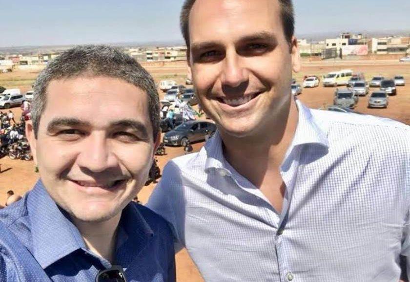 Alecxandro Carreiro e Eduardo Bolsonaro