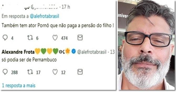 Alexandre Frota perder mandato por agressão ao Estado de Pernambuco