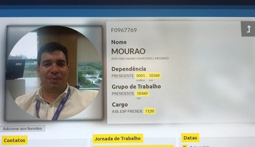 filho de Mourão Banco Brasil
