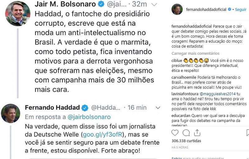 haddad bolsonaro twitter