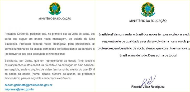 carta do mec escolas brasileiras
