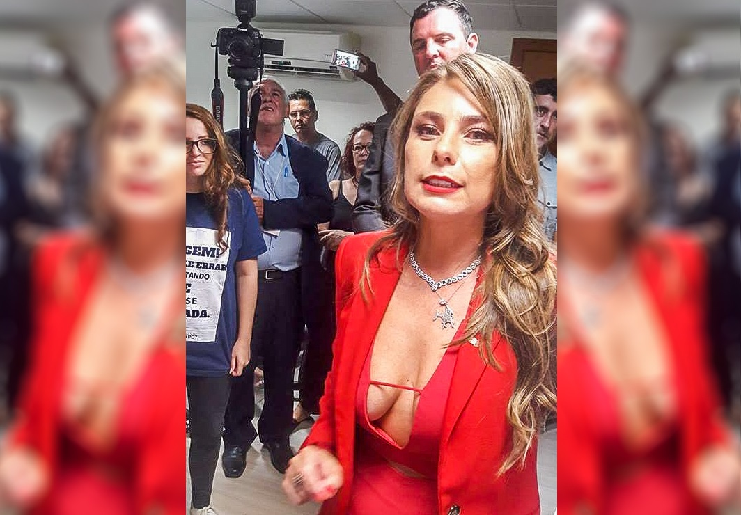 deputada Ana Paula da Silva decote