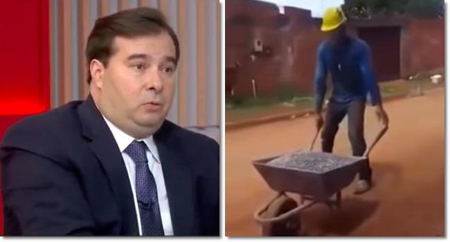 desafio pedreiro presidente da Câmara Rodrigo Maia Previdência Aposentadoria