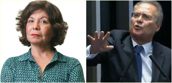 Dora Kramer e Renan Calheiros