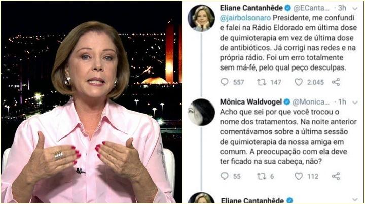 Eliane Cantanhêde quimioterapia Bolsonaro