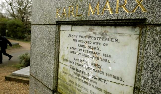 Extremistas atacam túmulo do filósofo Karl Marx