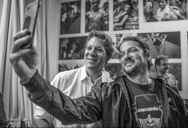 Haddad janta ator pró-impeachment interpretou Sergio Moro Marcelo Serrado