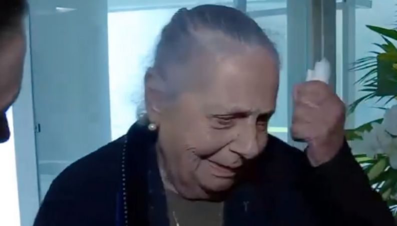 Dona Mercedes mãe de Boechat