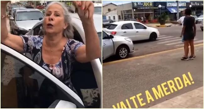 mulher agride manuela d'ávila