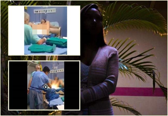 jovem grávida agredida médico brasileiro