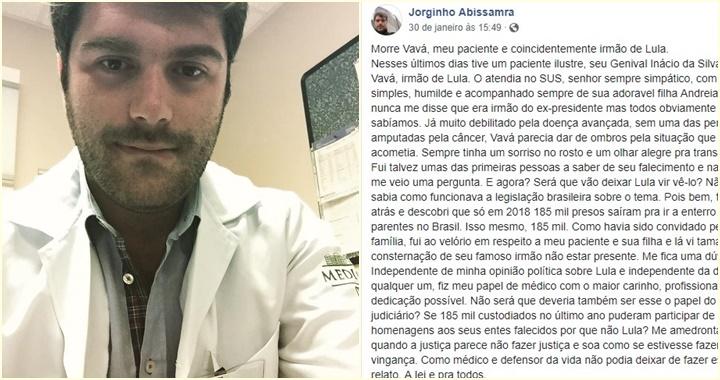Jorge Abissanra médico vavá