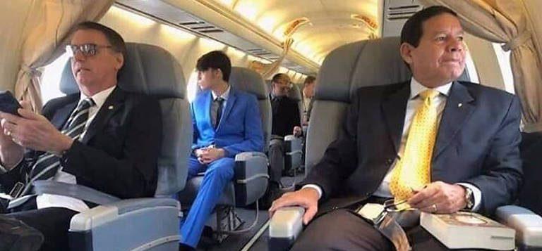 bolsonaro mourão avião