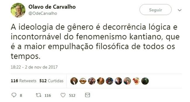 Professores assistem aula de Olavo de Carvalho e se espantam com inconsistências