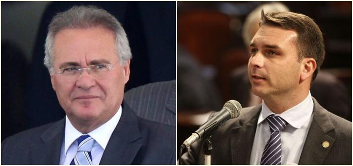 Renan Calheiros e Flávio Bolsonaro