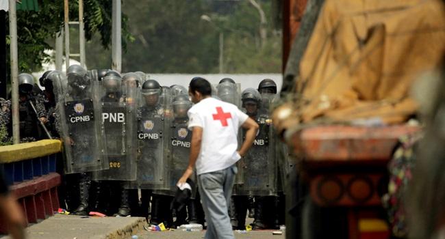 Venezuela emblema da Cruz Vermelha sem autorização