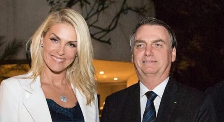 Ana Hickmann e Jair Bolsonaro