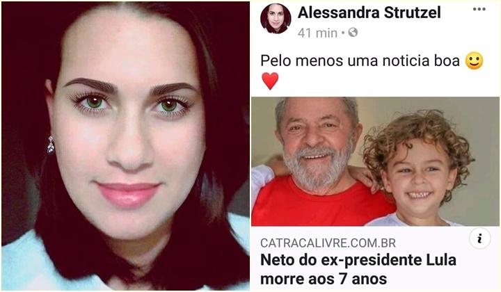 Alessandra Strutzel morte neto Lula