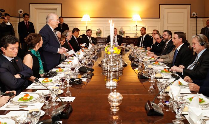 jantar de Bolsonaro nos EUA