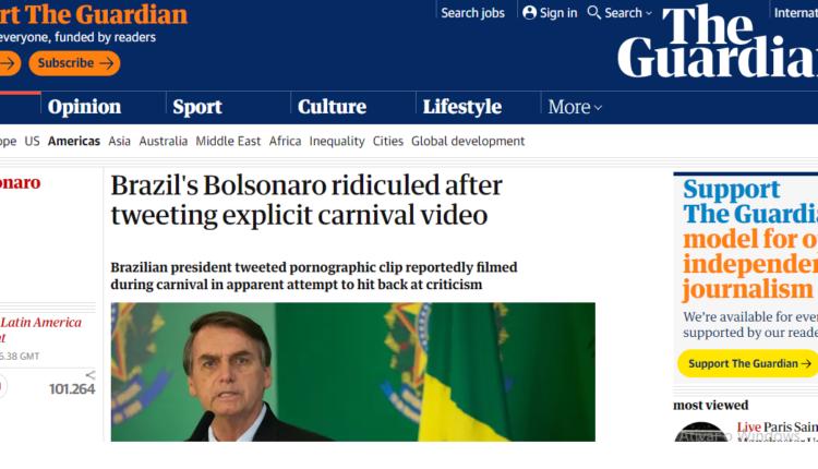 Bolsonaro mídia internacional