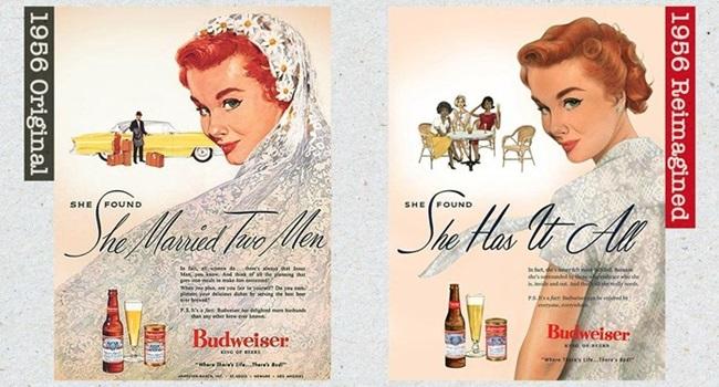 Budweiser corrige seus anúncios machistas da década de 50