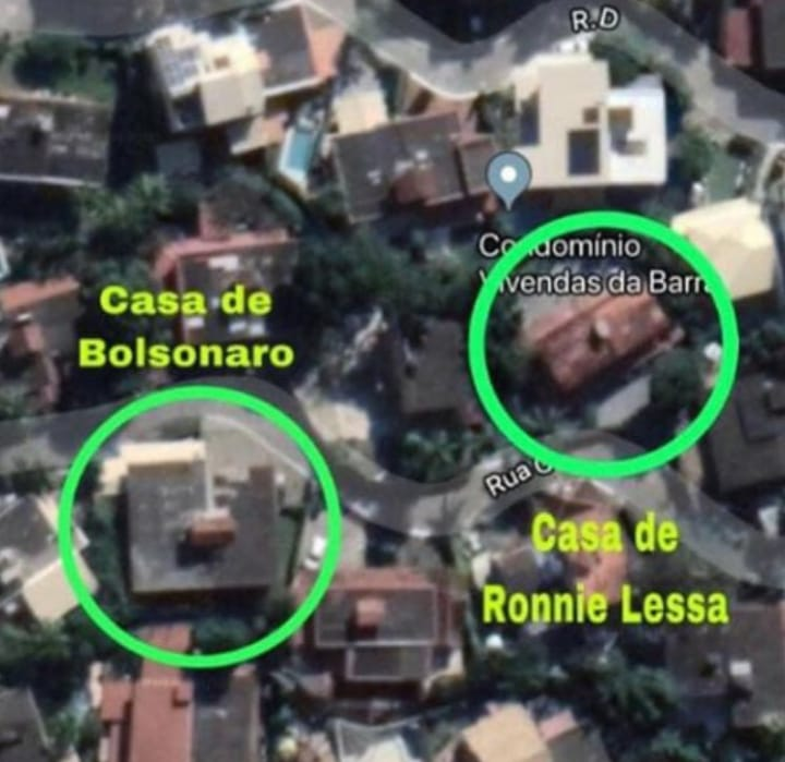 Jair Bolsonaro Ronnie Lessa casa