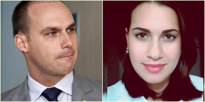 Eduardo Bolsonaro e Alessandra Strutzel