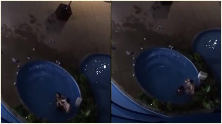 homem agride mulheres piscina DF