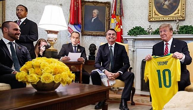 Kennedy Alencar viralatismo de Bolsonaro nos EUA inacreditável Trump