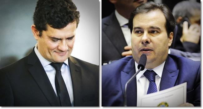 Rodrigo Maia critica Moro confunde as bolas plagiou projeto anticrime