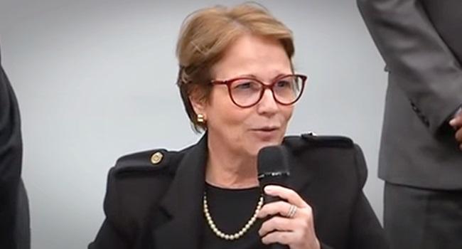 Brasileiros não passam fome mangas chupar ministra tereza cristina