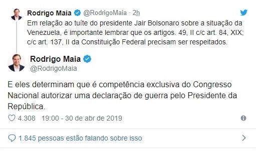 Rodrigo Maia Venezuela