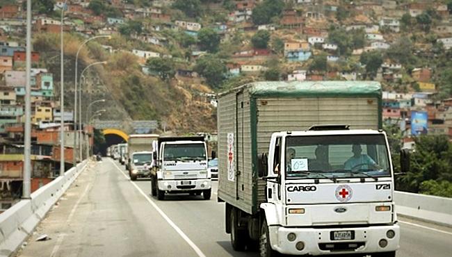 Venezuela recebe ajuda humanitária oficial da Cruz Vermelha
