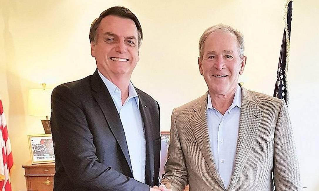 Bolsonaro visita Bush