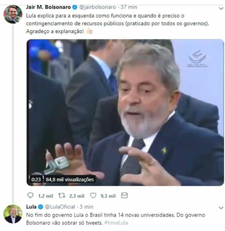 Bolsonaro Lula cortes na educação