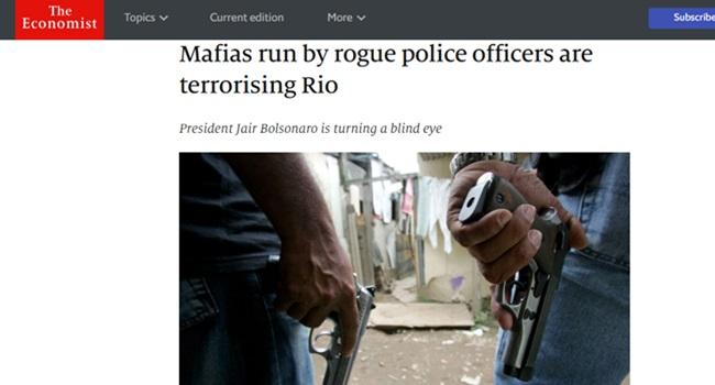 Relação da família Bolsonaro com milícias ganha a imprensa internacional