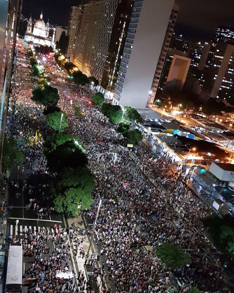 manifestações rio de janeiro candelária