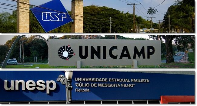 USP Unicamp Unesp bolsas de mestrado doutorado
