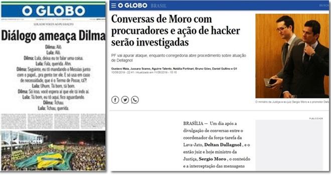 Globo tenta proteger Moro e Dallagnol e desvia foco do escândalo
