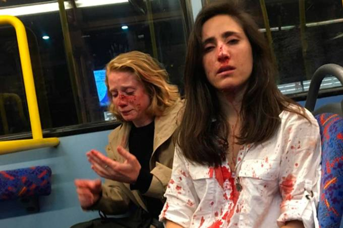 Melania Chris lésbicas agredidas Londres