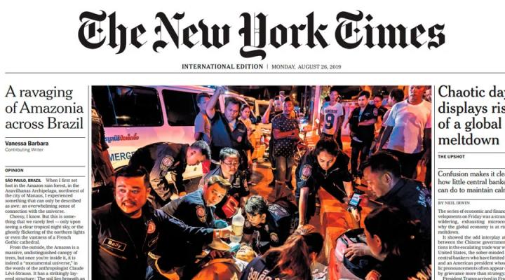 new york times bolsonaro líder
