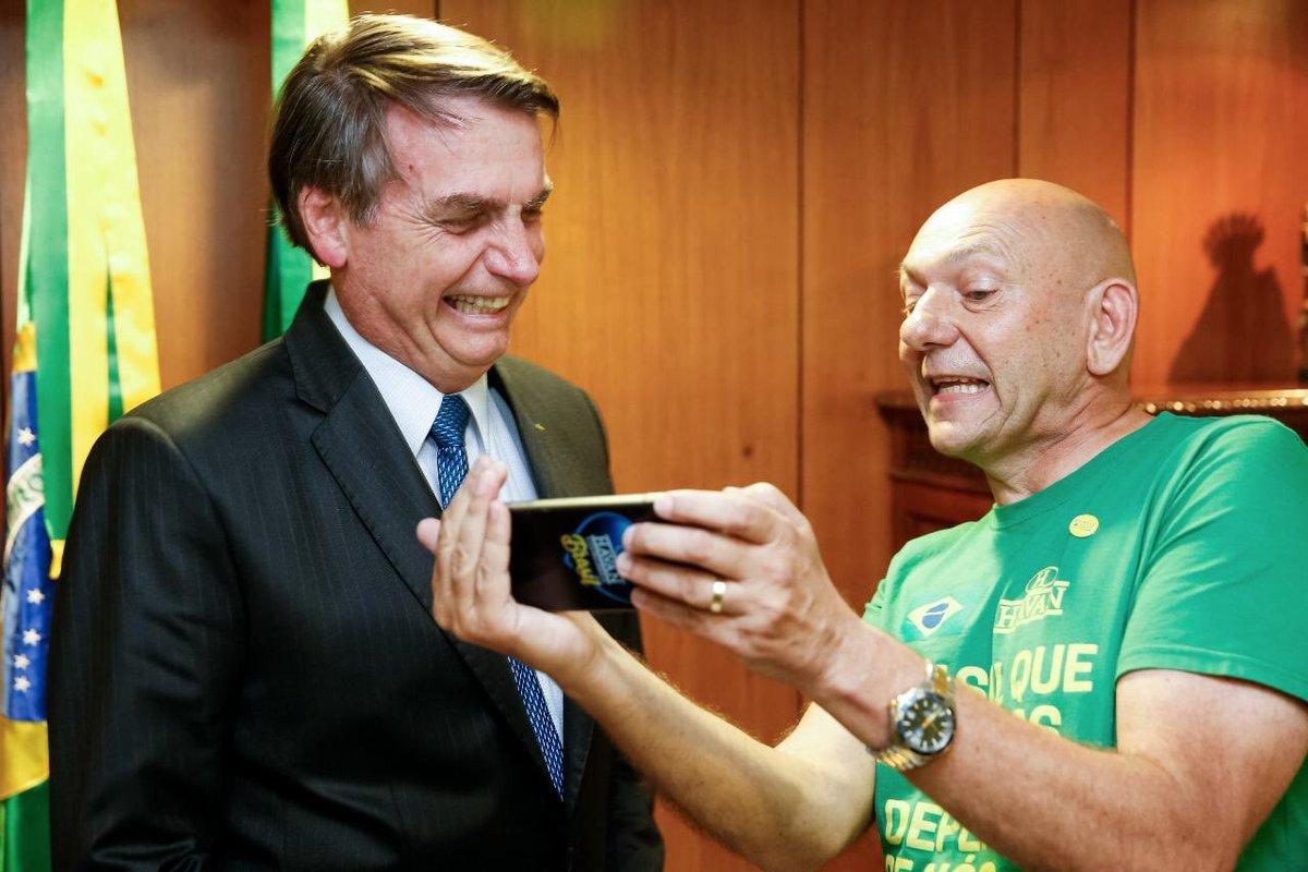Luciano Hang e Jair Bolsonaro