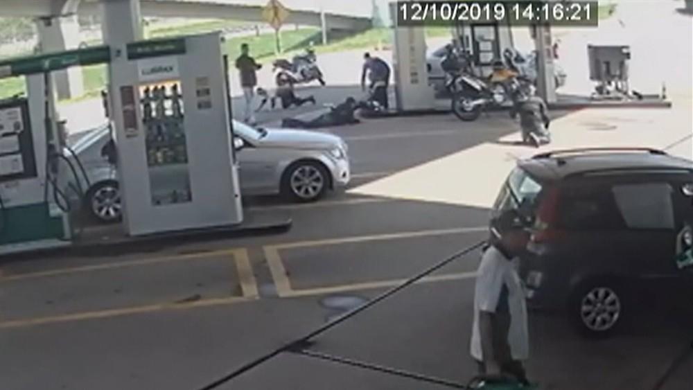 assalto posto de gasolina