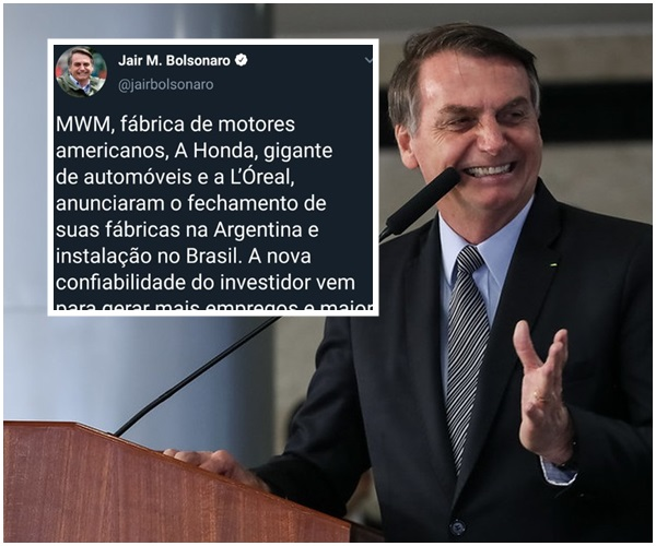 bolsonaro fábricas na argentina