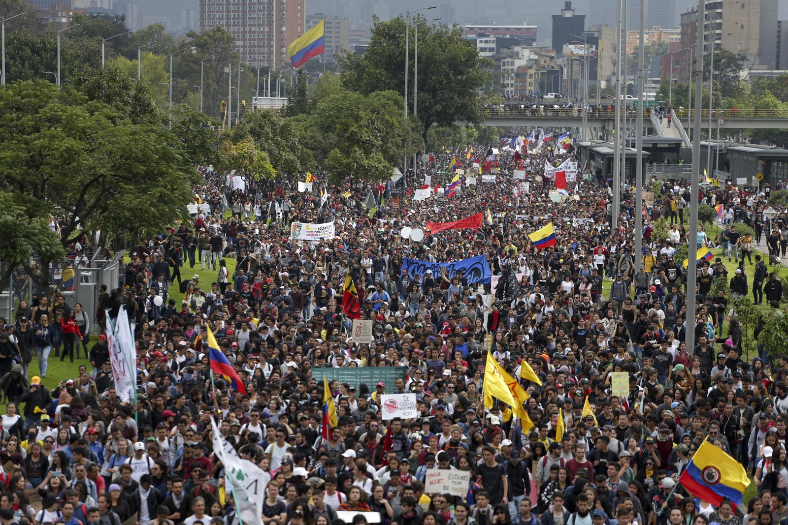 protesto colômbia