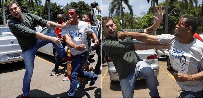 fascista soco embaixada da venezuela