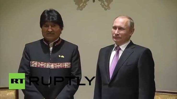 Evo Morales Vladimir Putin