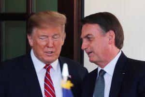 U.S. President Trump welcomes Brazilian President Bolsonaro at the White House in Washington