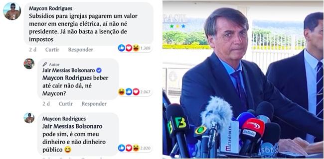 jair bolsonaro discute com eleitor