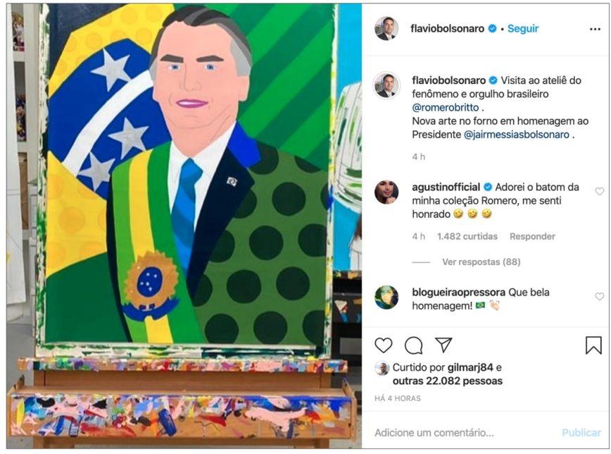 Romero Britto Bolsonaro