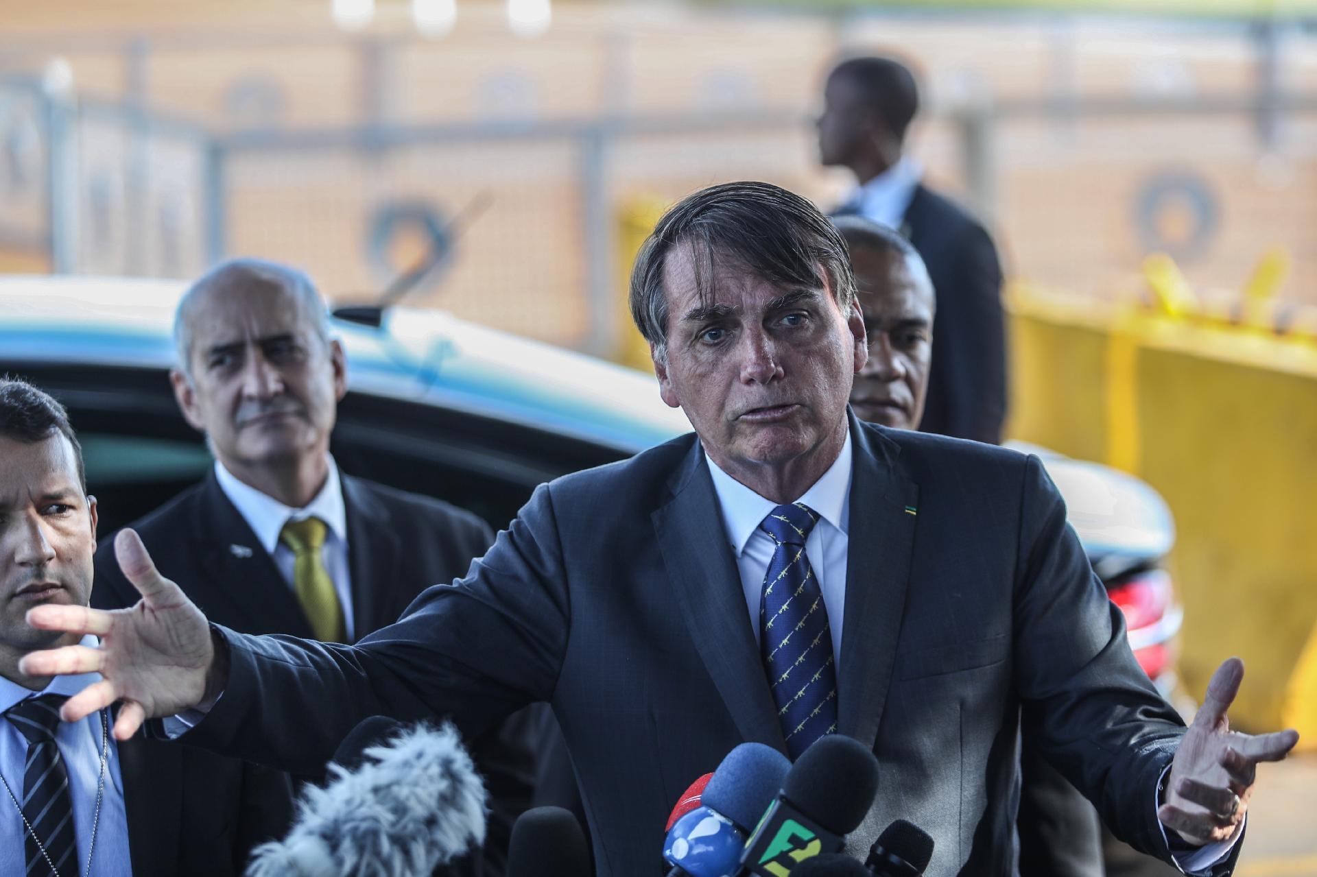 Jair Bolsonaro jornalistas
